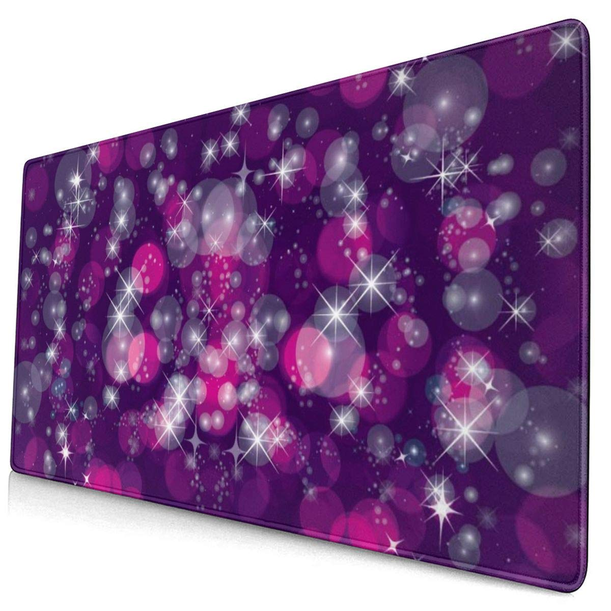 29.5x15.7x0.12 Inch Happy Time Design Pattern XXL XL Large Gaming Mouse Pad Mat Long Extended Mousepad Desk Pad Non-Slip Rubber Mice Pads Stitched Edges