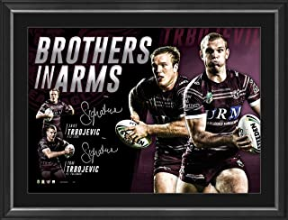 Sport Entertainment Products Manly Dual Signed `Brothers in Arms'