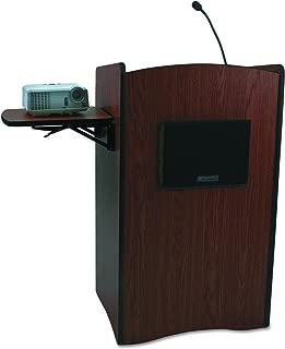 AmpliVox SS3230MH Multimedia Smart Computer Lectern, 25-1/2w x 20-1/4d x 43-1/2h, Mahogany