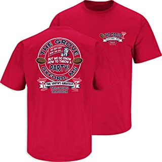 Smack Apparel Ole Miss Football Fans. The Grove Red T Shirt (SM-5X)