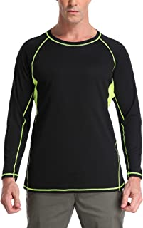 ATTRACO Long Sleeve Swim Shirts UPF 50+ Sun Protection Rash Guard Loose Fit T-Shirts