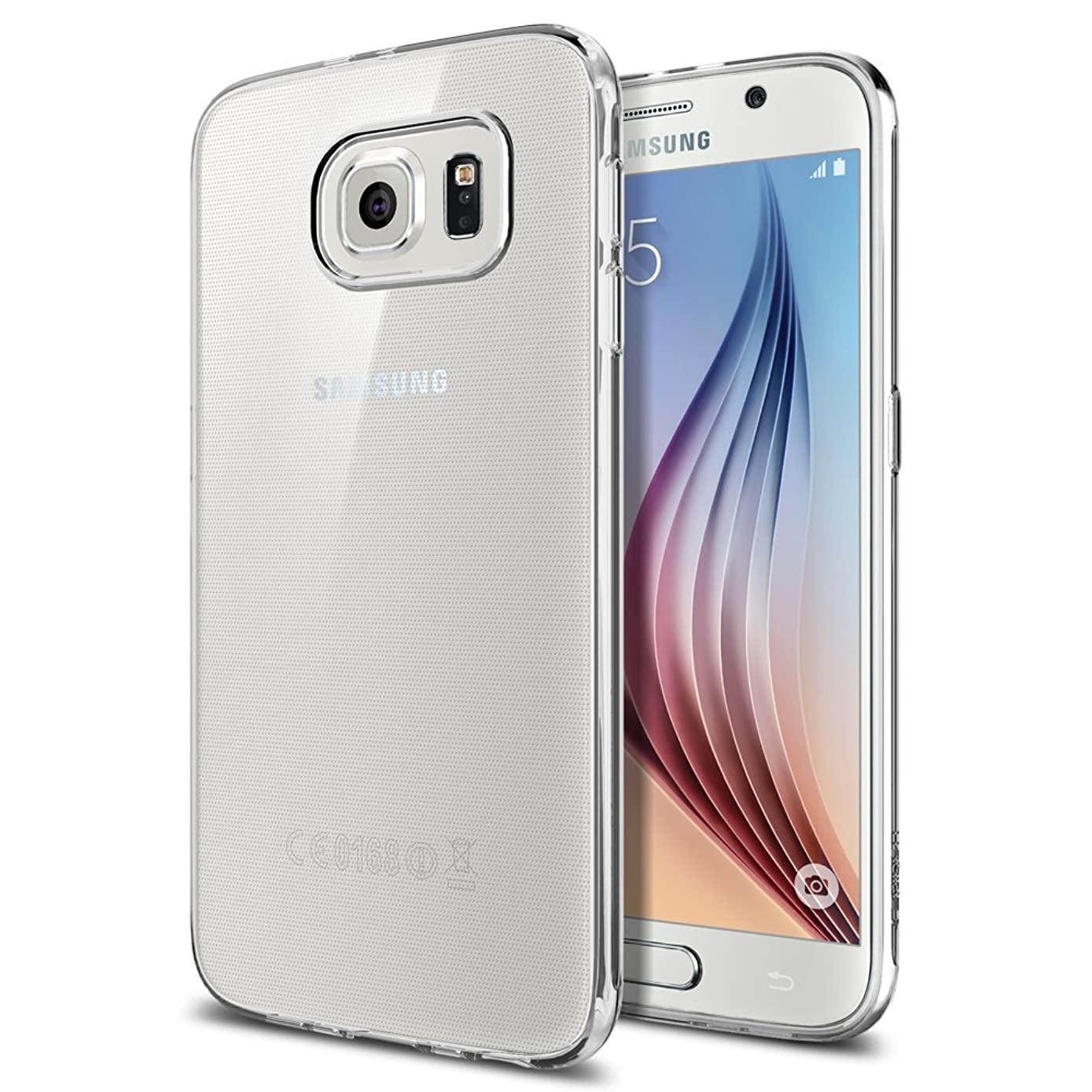 Spigen Liquid Crystal Galaxy S6 Case with Semi-Transparent Lightweight Material for Galaxy S6 2015 - Crystal Clear