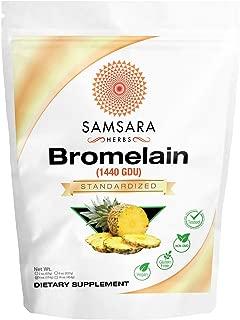 Samsara Herbs Bromelain Extract Powder (4oz/114g) - 1440 GDU Concentration