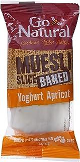 Go Natural Baked Muesli Slice Yoghurt Apricot Bar, 12 x 90 Grams