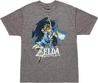 Zelda Breath of The Wild Link Grey Siro Mens Tee