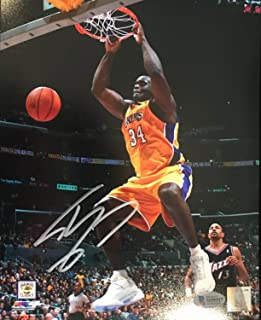 Shaquille O'Neal Autographed Signed Los Angeles Lakers 8x10 Photo Beckett Witness Vs Jazz
