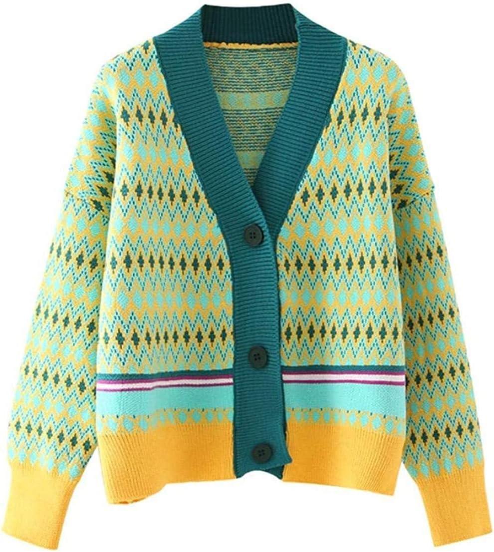 Max Free Shipping Cheap Bargain Gift 46% OFF LIYDENG Women Cardigan Sweater Retro England Elegant Latti Style