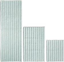 mDesign 100% Cotton Luxury Rectangular Spa Mat Rugs Plush Water Absorbent Ribbed Design - for Bathroom Vanity Bathtub/Show...