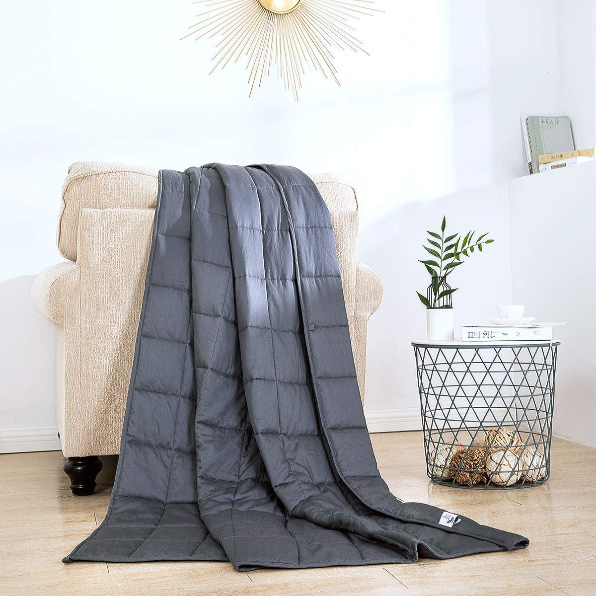 Weighted Blanket with Removable Cover lbs 60