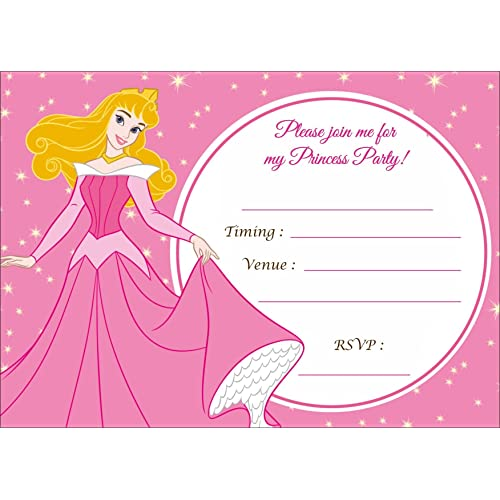 Askprints Metallic Card Invitations With Envelopes For Girls Birthday 5x7 Inch Pink
