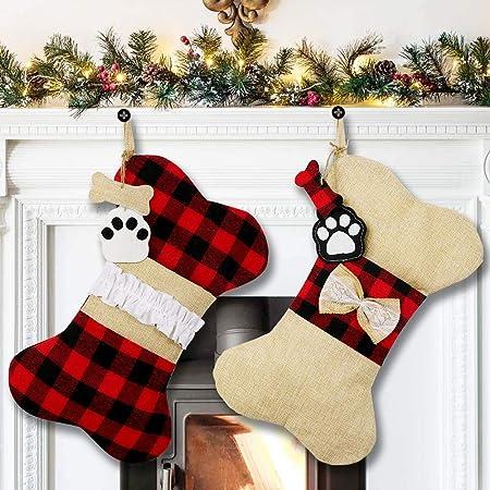 Pet Stocking Personalized Dog Bone Christmas Stocking Dog Christmas Bone Stocking J17 Dog Stocking Dog Bone Stocking Christmas Stocking