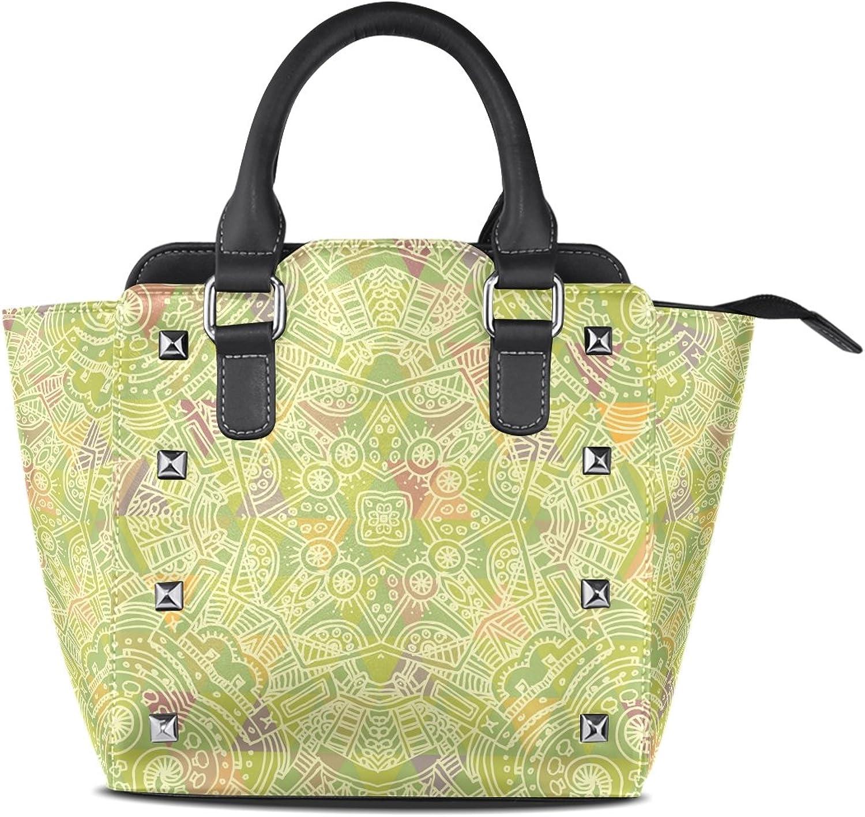 My Little Nest Women's Top Handle Satchel Handbag Decorative Ladies PU Leather Shoulder Bag Crossbody Bag