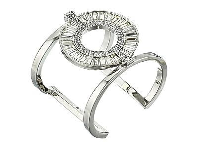 Vince Camuto Large T Cuff (Rhodium/Crystal) Bracelet