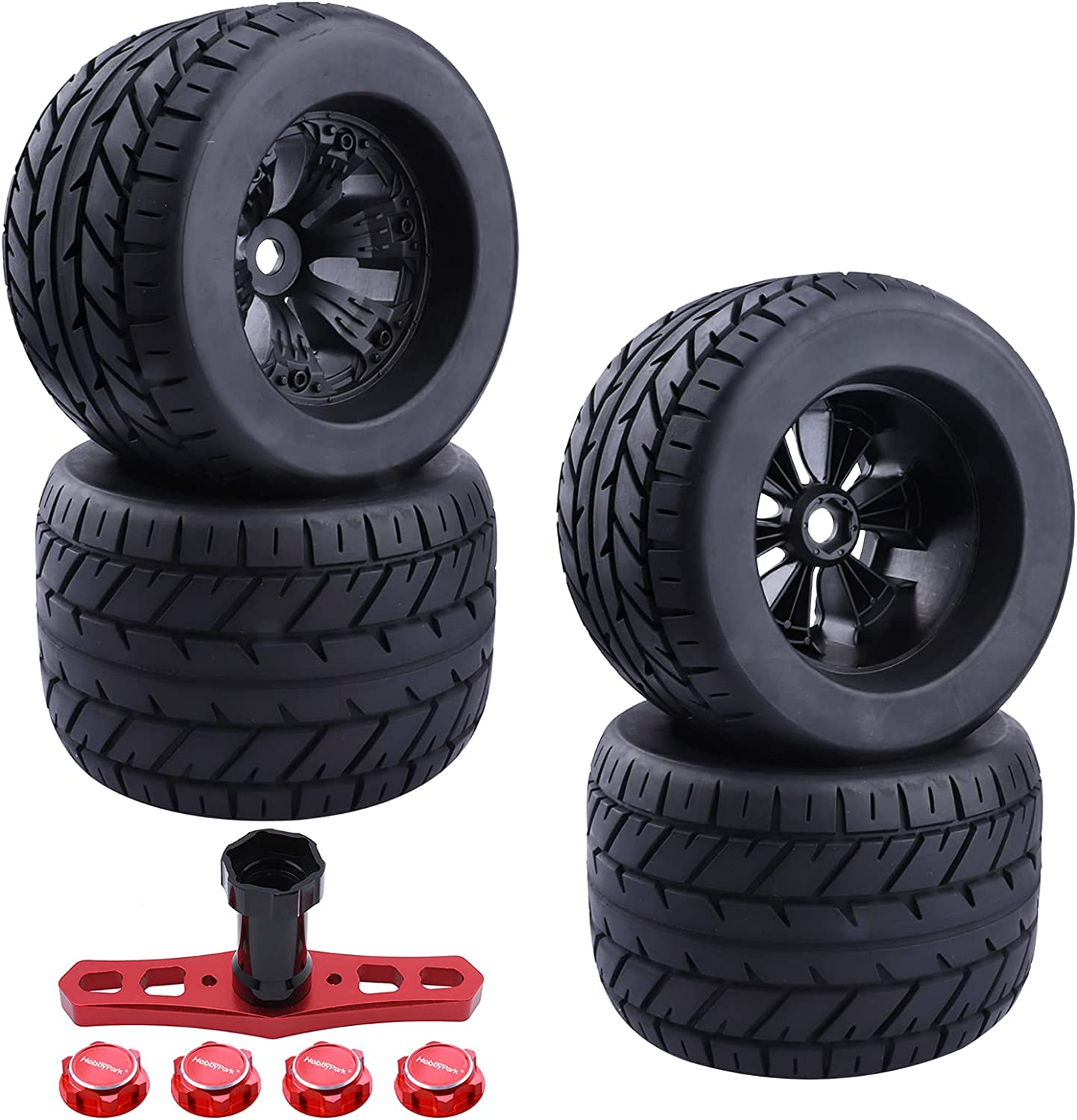Hobbypark 17mm Hex RC Street Tires and Max 80% OFF for Wheels Scale 1 10 Set famous