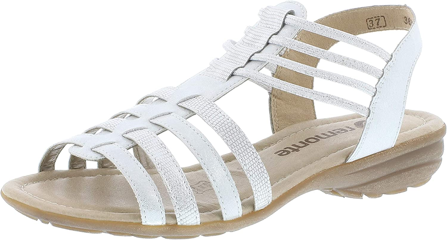 Remonte Women Sandals White, (ice Weiss-silver) R3630-90