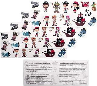 5 kindertattoos piraten tattoo set - 80 piraten kindermotieven - No China! (5)