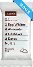 RXBAR, Chocolate Chip, Protein Bar, 1.83 Ounce (Pack of 12) Breakfast Bar, High Protein Snack