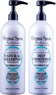 Original Sprout Natural Shampoo and Deep Conditioner Bundle. Organic Sulfate Free Shampoo and Deep Conditioning Treatment for Natural Hair Care. 33 oz each.