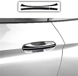 Bogar Tech Designs - PRECUT Door Handle Overlay Vinyl Decal Stickers Compatible with Ford Mustang 2015-2019, 4D Carbon Fiber Black