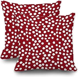 Best red polka dot pillows Reviews