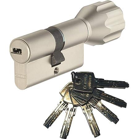 ABUS Schlie/ßzylinder Schlie/ßanlage als Knaufzylinder Zylinderschloss mit Knauf gleichschlie/ßend EC550 mit 3 Schl/üssel inkl ToniTec CodeCard Gr/ö/ße 30 35K mm Schlie/ßung 1