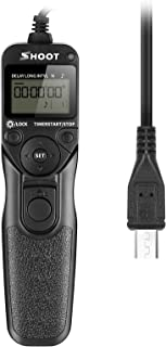 SHOOT Rm-vpr1 LCD Screen Timer Remote Shutter Release Time-Lapse for Sony Alpha A7,A7R,A7II,A3000,A6000,SLT-A58, NEX-3NL, ...