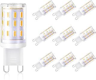 10er Pack G9 Halogenlampen Comyan 230V 33W 460lm Klar G9 Kapselbirne 2800K Warmwei/ß Dimmbar