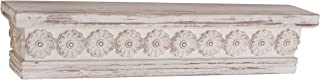Deco 79 44481 Rustic Wood and Resin Floating Shelf, 5