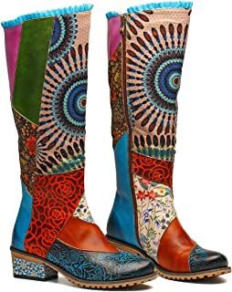 Best colorful leather boots Reviews