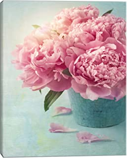 Designart PT10024-12-20 Pink Peony Flowers in Vase-Large Floral Wall Art Canvas-12X20, 20