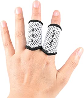 Sports Elastic Finger Sleeves Support Thumb Brace Protector Breathable Elastic Finger Tape for Basketball, Tennis,Baseball, Cycling, Volleyball, Badminton, Boating A71