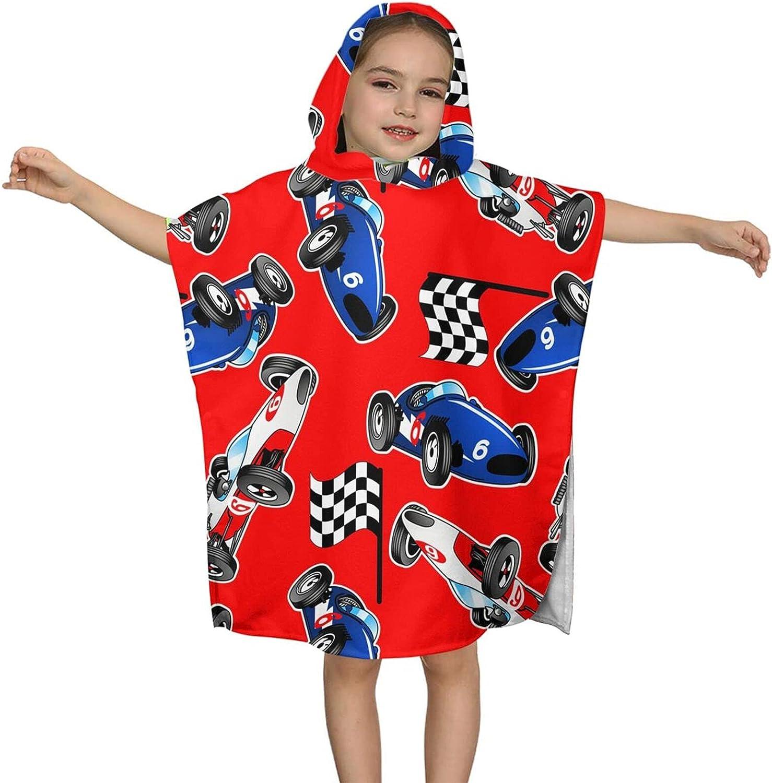 Hooded Bath Japan's largest assortment Towel Sales for sale Cartoon Racing Cars Kids Wrap Sof
