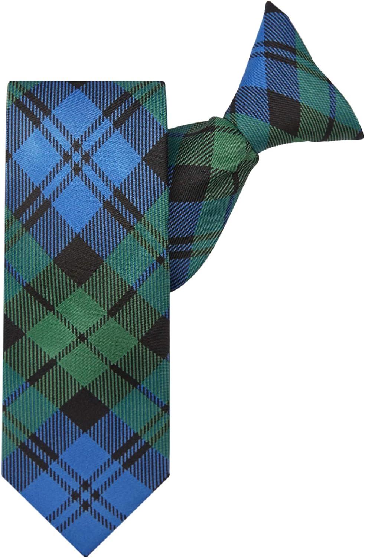 Jacob Alexander Boys' Royal Tartans Plaid 14-inch Clip-On Neck Tie