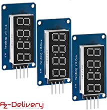 AZDelivery 3 x Modulo Pantalla Digital LED Display 8 bit TM1637 I2C con Reloj Display para Arduino y Raspberry Pi con E-Book incluido!