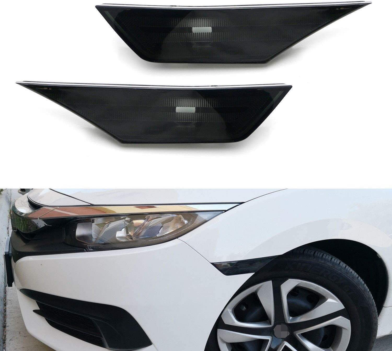 iJDMTOY JDM Black Memphis Mall Smoked Lens Front Side Co We OFFer at cheap prices Lamp Marker Housings