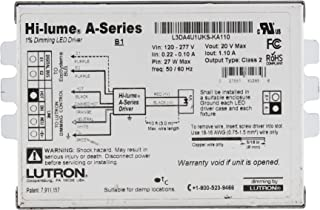 Lutron L3DA4U1UKS-KA110 Hi-Lume 1% Dimmable LED Driver, 27-Watt, 20Vdc, 120/277V