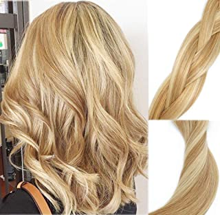Clip In Human Hair Extensions Mixed Bleach Blonde Extension Clip ins New Version Thickened Double Weft 9A Brazilian Hair 120g 7pcs Full Head Silky Straight 100% Human Hair Clip In Extensions 16 Inch