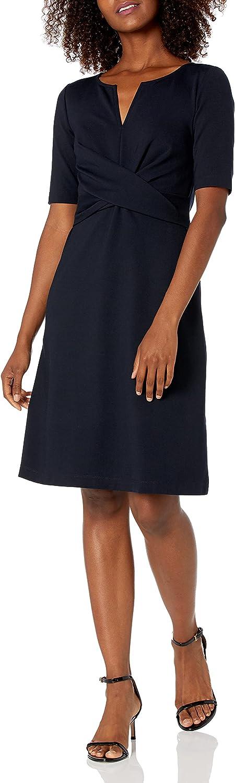 Amazon Brand - Lark Ro Dealing full price reduction Women's Sleeve Twist Half Front Daily bargain sale A-Line