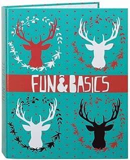 Safta SF-561628-657 - Carpeta folio con 4 anillas y lomo ancho, diseño Fun & Basic