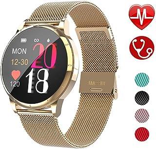 KXHWSH 1,22 Pulgadas Smartwatch Pulsera Actividad Inteligente Podómetro Frecuencia Cardíaca Presión Arterial Pulsera Deportiva WeChat Motion Access para Mujer y Hombre