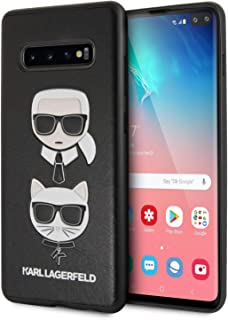 Karl Lagerfeld Embossed Case Karl & Choupette - Case for Samsung Galaxy S10+ (Black)