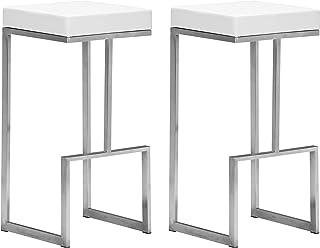 Zuo Darwen Bar Chairs (Set of 2), White