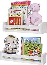Halcent Floating Shelves Multi-Use Wall Shelf Nursery Kids Bookshelf White Wood Display Shelf (2 Pack)