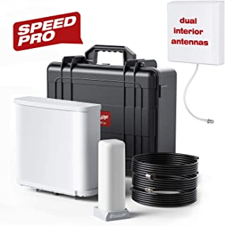 SolidRF Dual Interior Antennas Cell Phone Signal Booster Speedpro Kit for Home Office 2G/3G/4G Up to 30, 000 SQ Ft