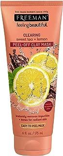 Freeman Facial Sweet Tea & Lemon Peel Away Clay Mask 6 Ounce (177ml) (3 Pack)