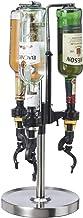 Oggi Professional 3-Bottle Revolving Liquor Dispenser, Stainless Steel, 7186