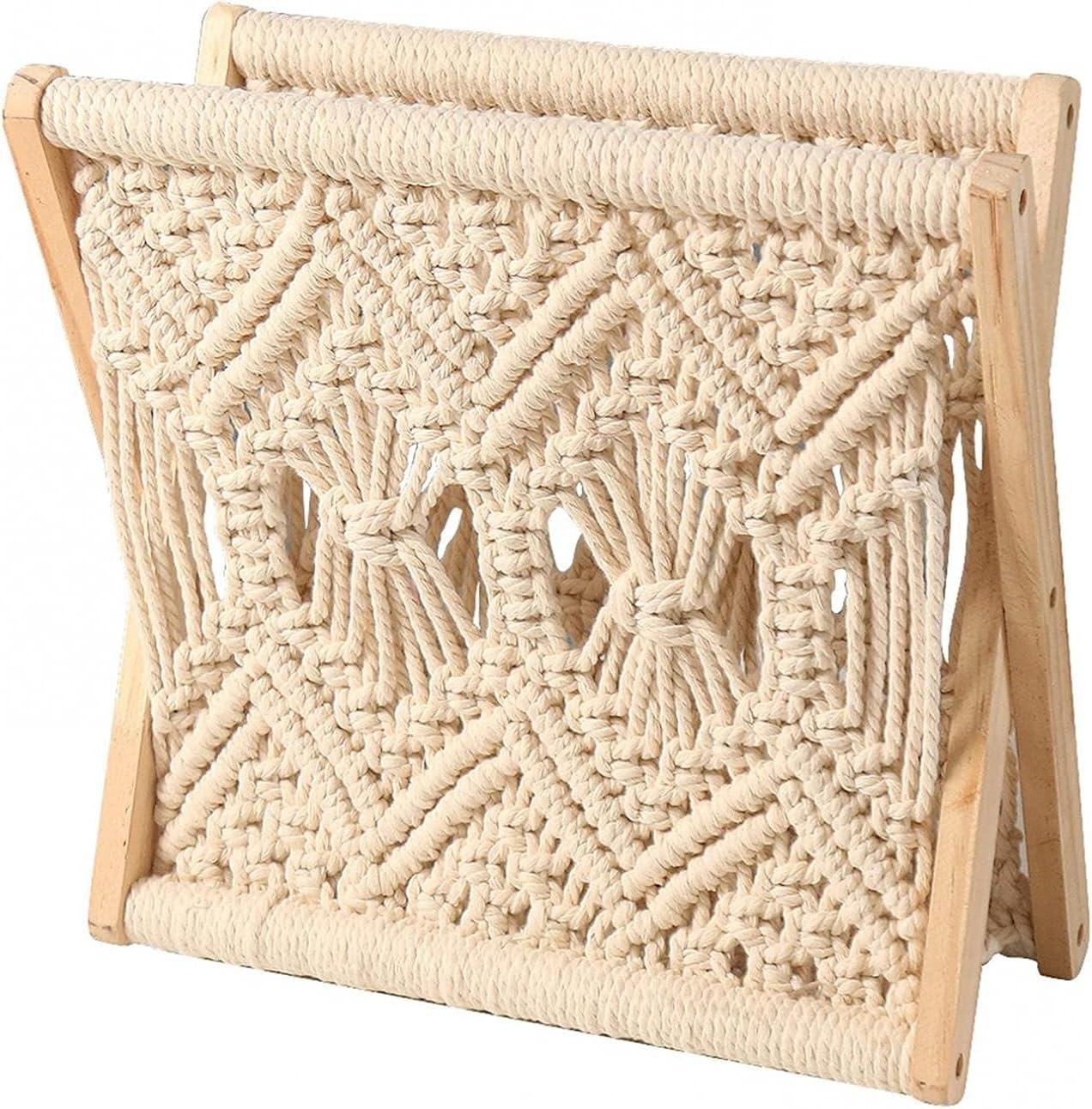 Price reduction ZQCM Hand Woven Magazine Rack Deskto Simple Storage Box Folding Our shop OFFers the best service