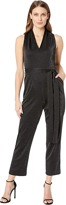 Glitter Jersey Sleeveless Jumpsuit
