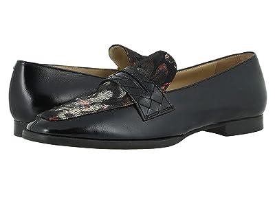 Johnston & Murphy Suzanna (Black Floral Fabric/Black Nappa) Women