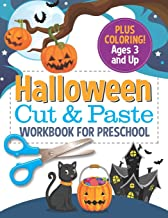 Halloween Cut and Paste Workbook for Preschool: Activity Book for Kids with Coloring and Cutting PDF